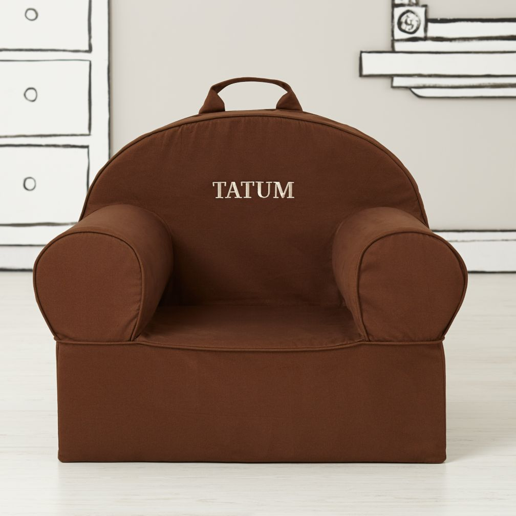Large Personalized Brown Nod Chair Cover
