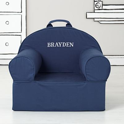 Large Personalized Dark Blue Nod Chair