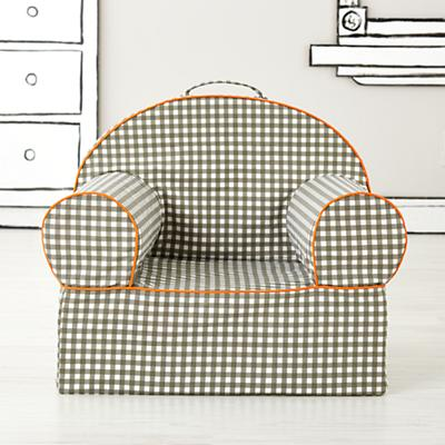 Executive Nod Chair Cover (Grey Gingham)