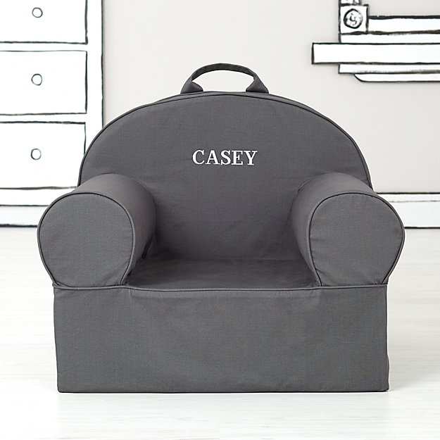 Large Personalized Grey Nod Chair