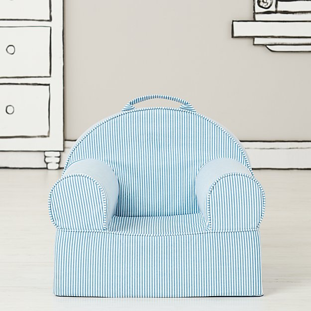 Small Blue Stripe Nod Chair