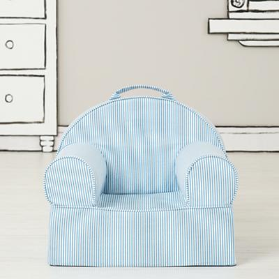 Small Blue Stripe Nod Chair Cover