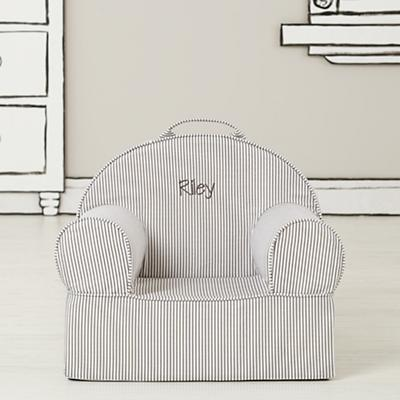 Entry Level Grey Stripe Personalized Nod Chair
