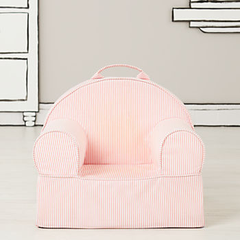 Small Pink Stripe Nod Chair