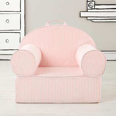 Large Pink Ticking Stripe Nod Chair Cover