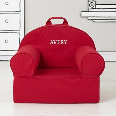 Large Personalized Dark Red Nod Chair