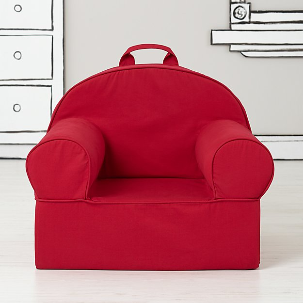 Large Dark Red Nod Chair Cover