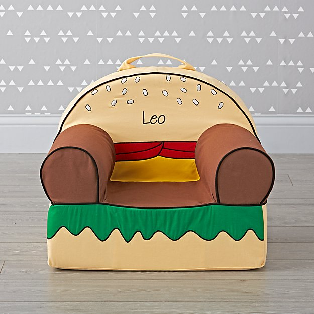 Small Personalized Burger Nod Chair
