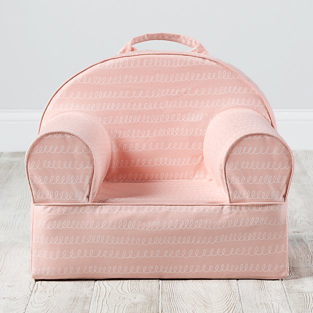 Small Pink Loop Nod Chair Cover