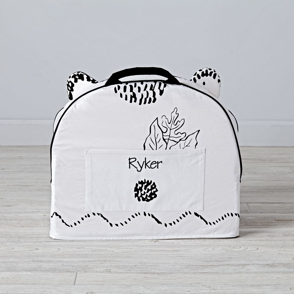 Small Personalized  Roxy Marj Bear Nod Chair Cover