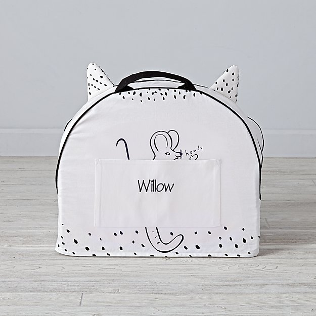 Small Personalized Roxy Marj Cat Nod Chair Cover
