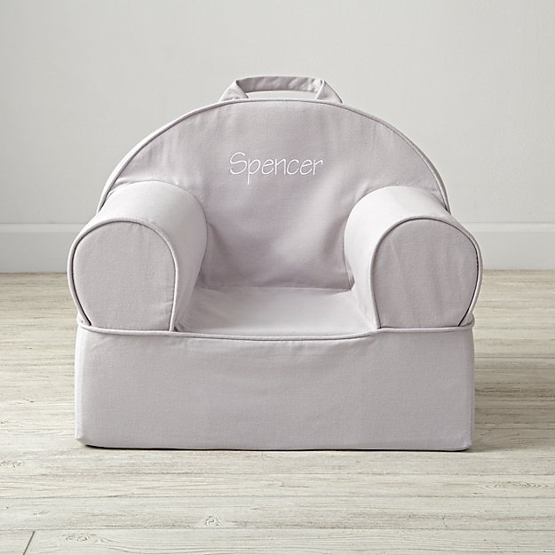 Small Personalized Grey Nod Chair Cover