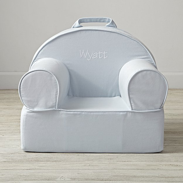 Small Personalized Light Blue Nod Chair Cover