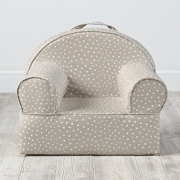 Small Personalized Khaki Star Nod Chair Cover