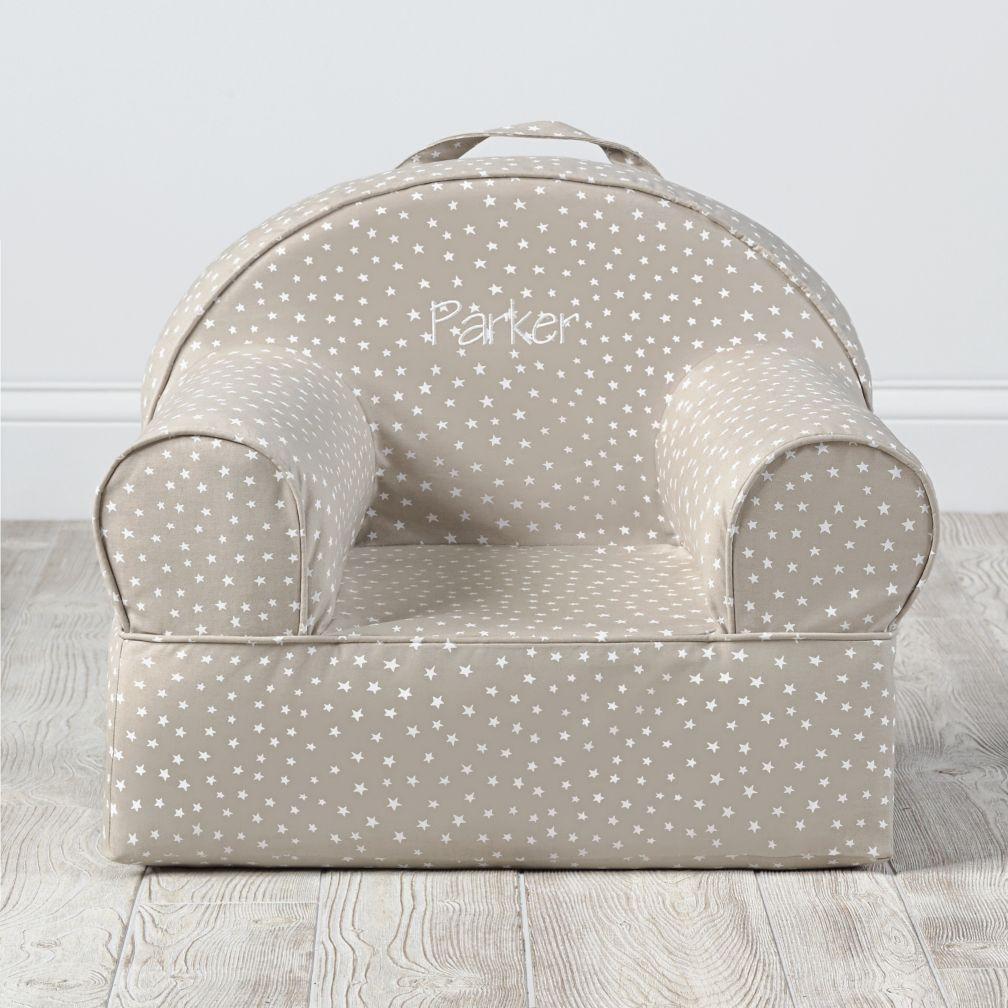Small Khaki Star Nod Chair
