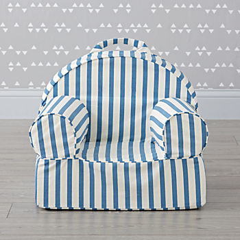 Small Dark Blue Stripe Nod Chair