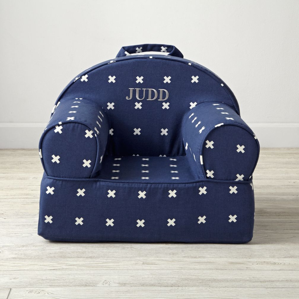 Small Personalized X-Print Nod Chair
