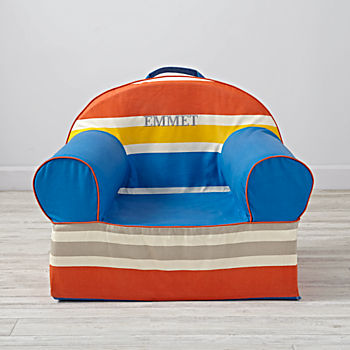Large Personalized Bold Stripe Nod Chair