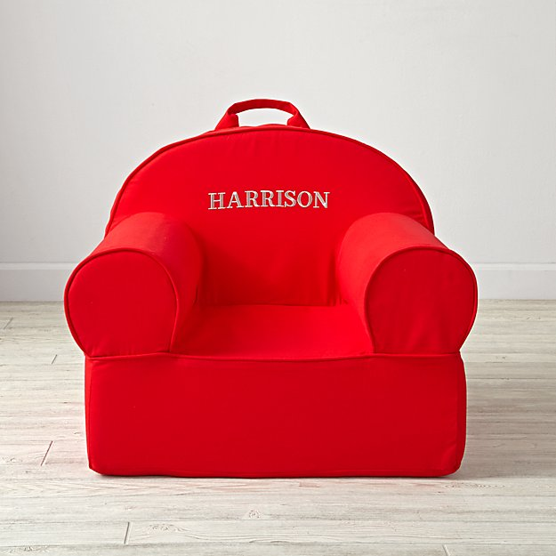 Large Personalized Red Nod Chair Cover