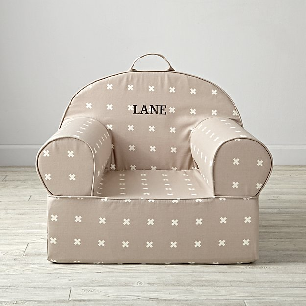 Large Personalized X-Print Nod Chair