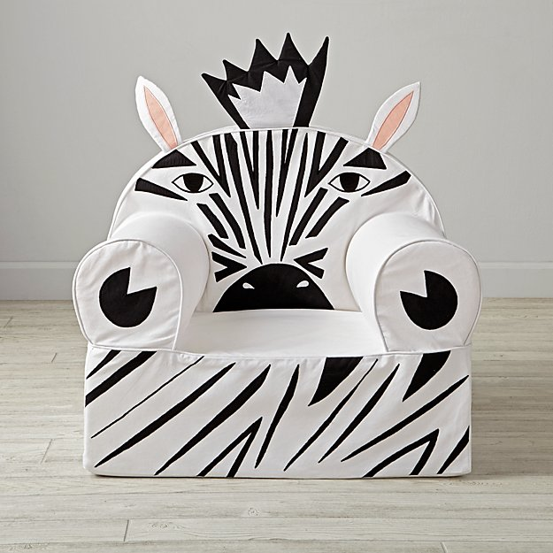 Large Zebra Nod Chair