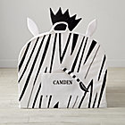Large Personalized Zebra Nod Chair