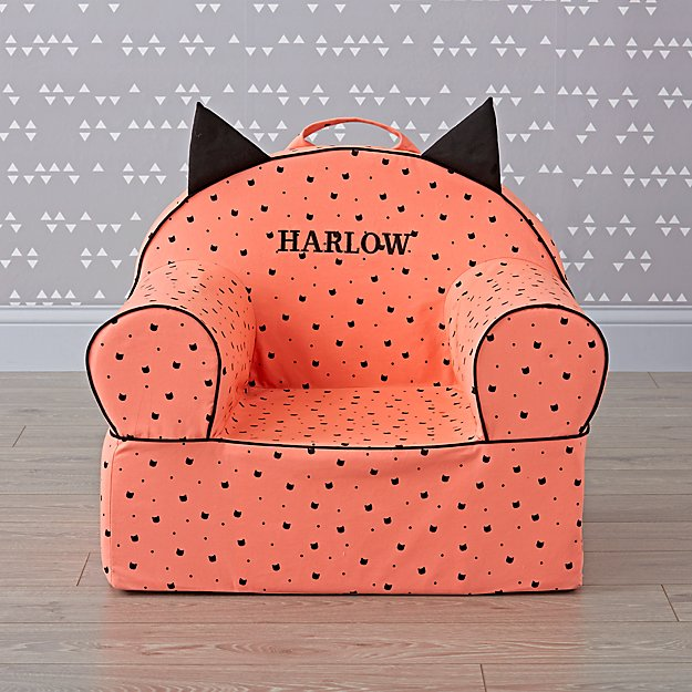 Large Personalized Pink Cat Nod Chair
