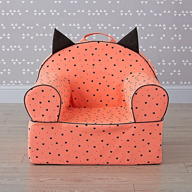 Large Pink Cat Nod Chair