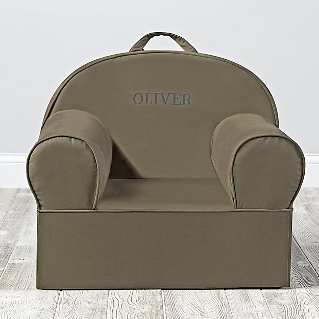Large Personalized Dark Green Nod Chair