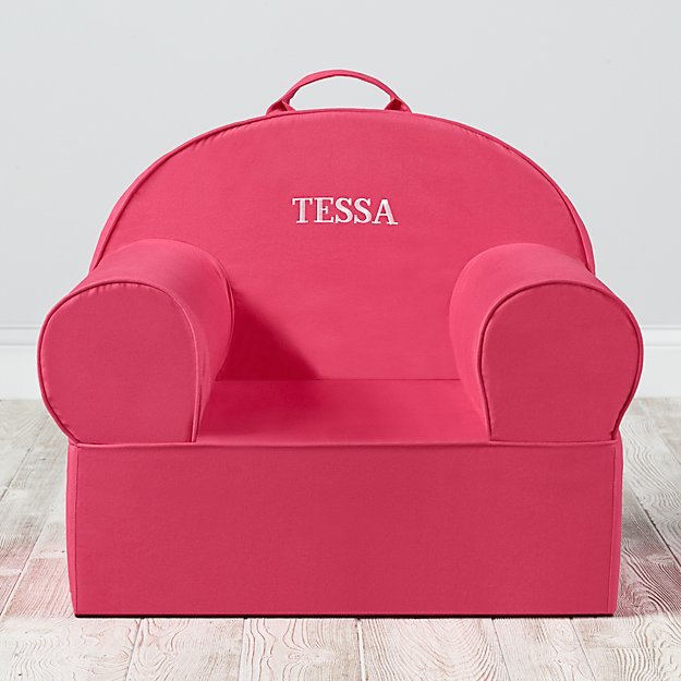 Large Personalized Dark Pink Nod Chair