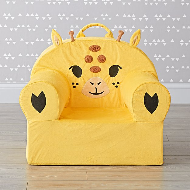 Large Furry Giraffe Nod Chair Cover