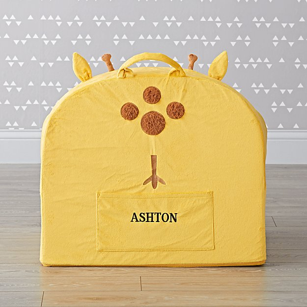 Large Personalized Furry Giraffe Nod Chair Cover