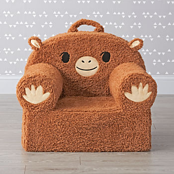 Large Furry Monkey Nod Chair
