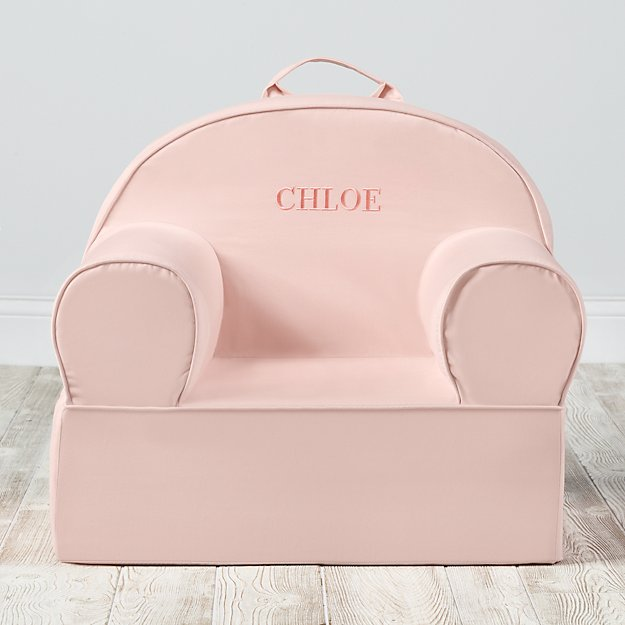 Large Personalized Light Pink Nod Chair Cover