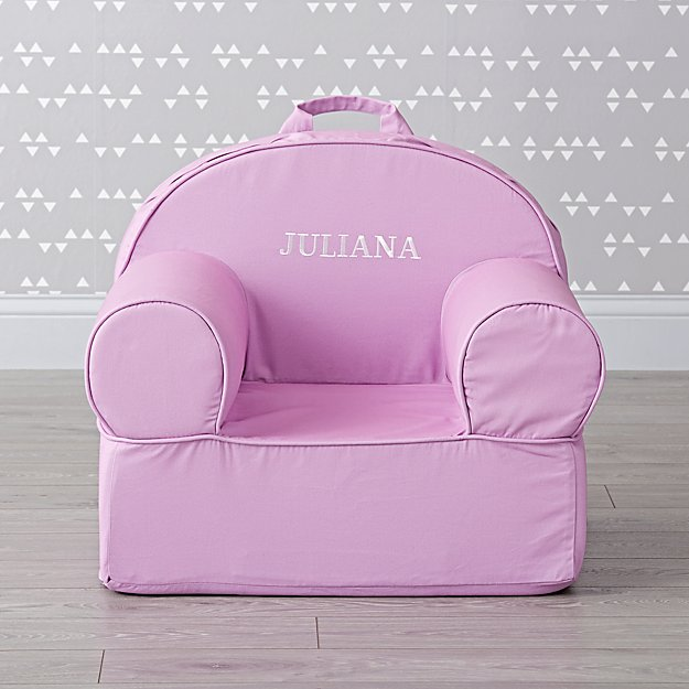 Large Personalized Light Purple Nod Chair