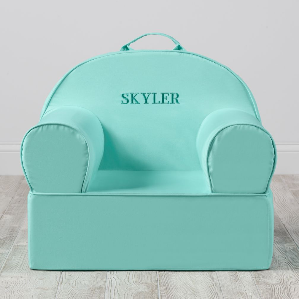 Large Personalized Mint Nod Chair Cover