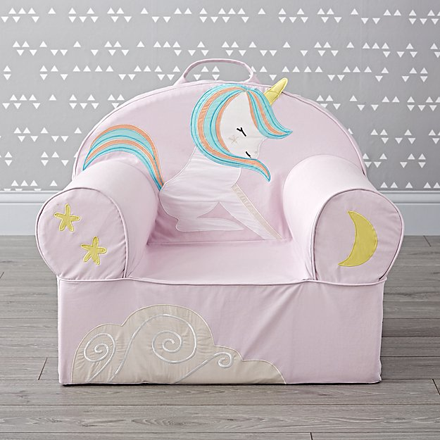 Large Young Unicorn Nod Chair