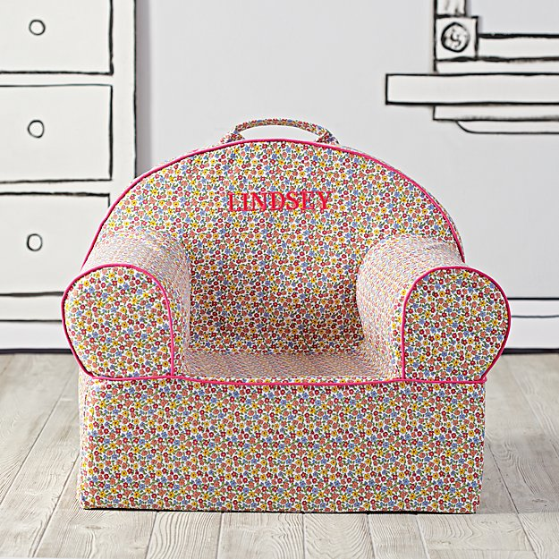 Large Personalized Floral Nod Chair