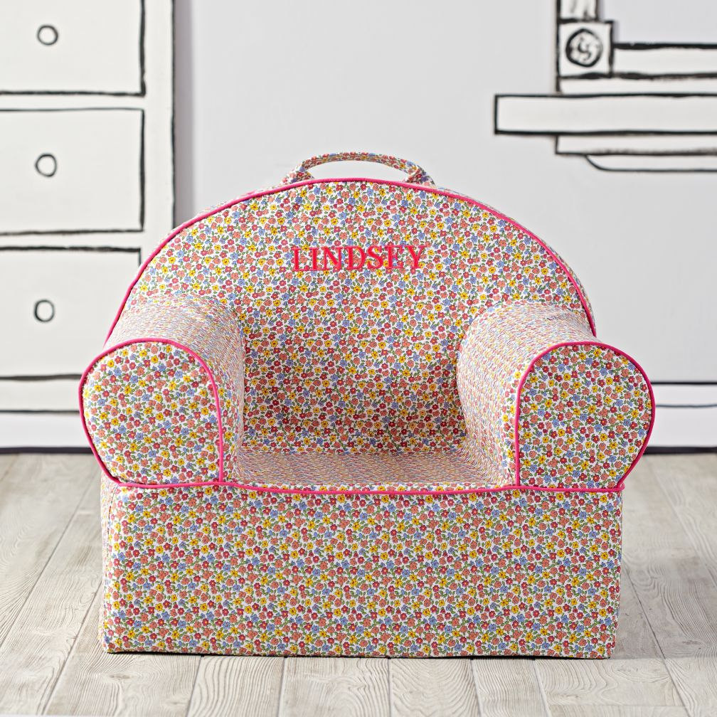 Large Personalized Floral Nod Chair Cover