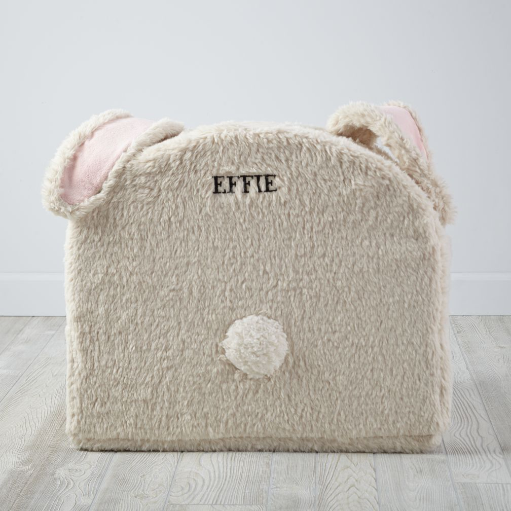 Personalized Furry Animal Nod Chair (Bunny)