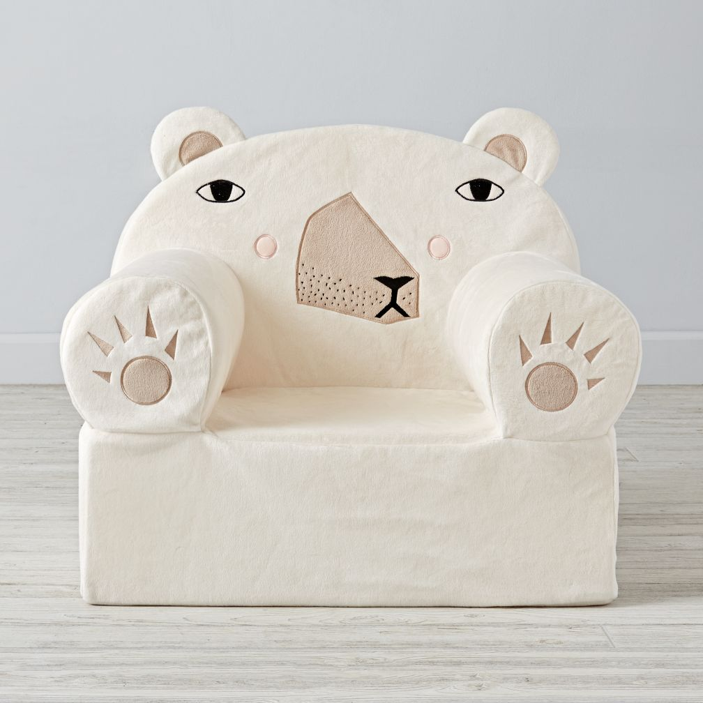 Large Polar Bear Nod Chair