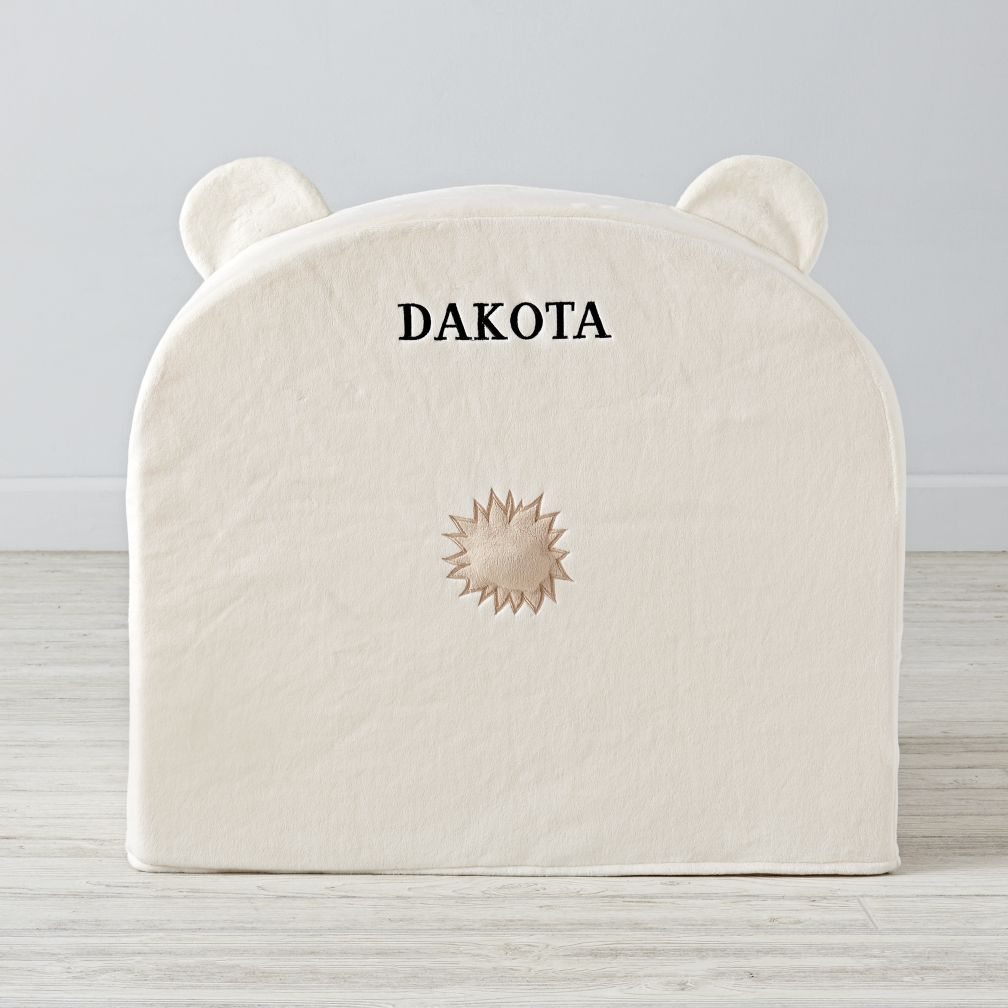 Executive Polar Bear Personalized Nod Chair Cover