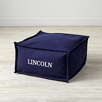 Square Navy Personalized One Seater