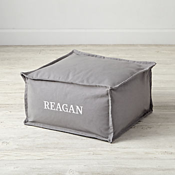 Square Grey Personalized One Seater