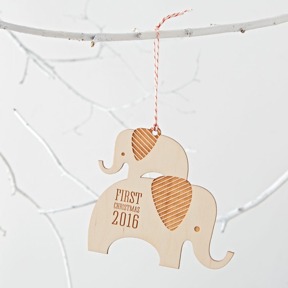 Baby Elephant 2016 Ornament