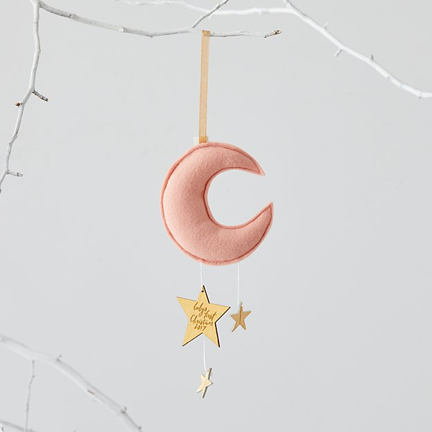 Baby's First Pink Moon Ornament