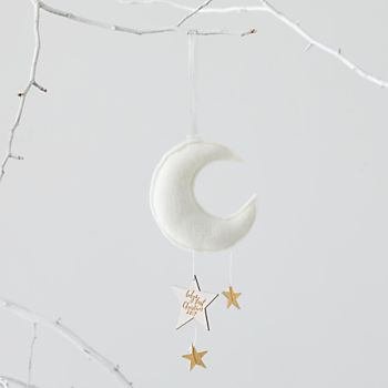 Baby's First White Moon Ornament