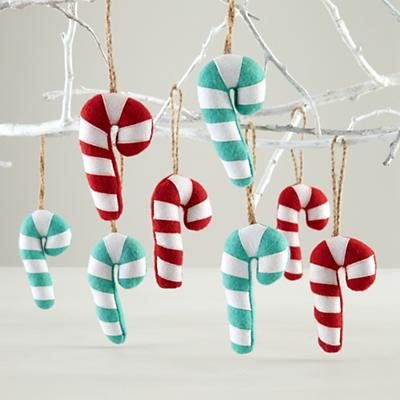 Candy Cane Ornaments (Set of 8)
