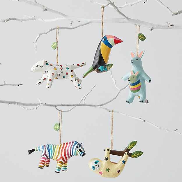 Colorful Animal Ornaments