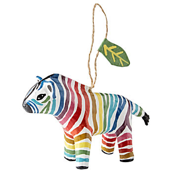 Colorful Zebra Ornament